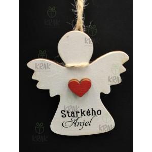 Drevený anjel so šnúrkov 0384 -1