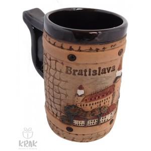 """Keramický mini hrnček 1 dcl. - """"Bratislava"""" 1536 - 1"""