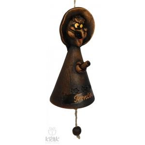 """Keramický zvonček v tvare bosorka """"Trenčín"""" 1549 - 1"""