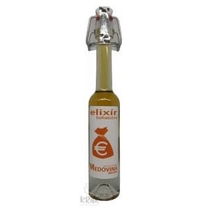 """Medovina PALAZZO - 0,04l - ozdobná fľaša s nápisom """"Elixír bohatstva"""" - 1978 - 2"""