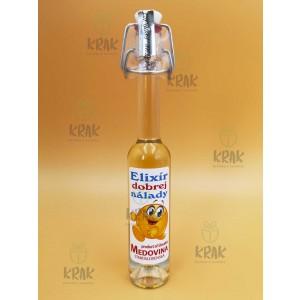 """Medovina PALAZZO - 0,04l - ozdobná fľaša s nápisom """"Elixír dobrej nálady"""" - 1978 - 2"""