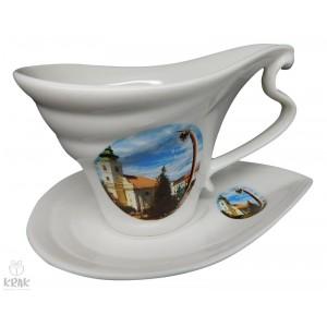 """Porcelánová šálka """"slza"""" - """"Rimavská Sobota"""" - dekor 1 2130 - 9"""