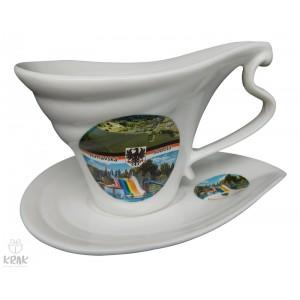 """Porcelánová šálka """"slza"""" - """"Rimavská Sobota"""" - dekor 4 -  2130- 11"""