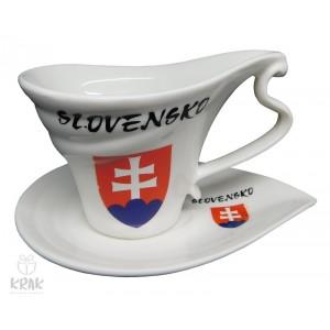 """Porcelánová šálka """"slza"""" - dekor 6  - Slovensko - 2130 - 1"""