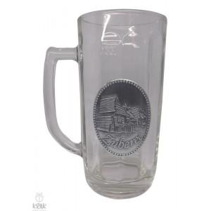 """Pivový krígeľ - 0,3l - kov dekor - motív """"Zuberec"""" - 12"""