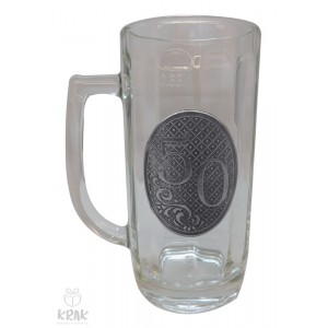 """Pivový krígeľ - 0,3l - kov dekor - """"K jubileu 50"""" 2211 - 5"""