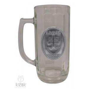 """Pivový krígeľ - 0,3l - kov dekor - """"Slovenský znak - erb"""" 2211 - 9"""