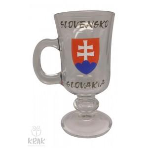 """Pohár """"dek - venezia"""" - číre sklo -  motív """"Slovensko"""" - dekor 6 - 2353-8"""