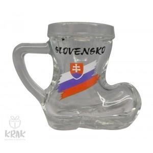 "Pohárik ""čižmička"" - sada 6 kusov - motív ""Slovensko"" - dekor 7 - 2423-11"