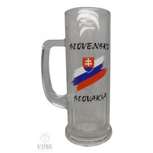 """Pivový krígeľ """"Europa"""" 0,3l - motív """"Slovensko"""" - dekor 7 - 2502e-1"""