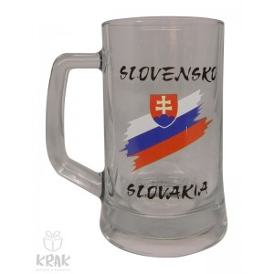 "Pivový krígeľ ""Pub"" 0,5l  - ""Slovensko"" - dekor 7 - 2510 - 1"