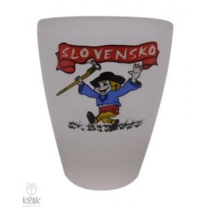 "Štamperlík ""mini"" - mliečne sklo - motív ""Slovensko"" - dekor 8 - sada 6 kusov - 2519-7"