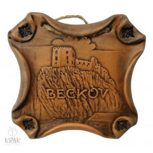 "Keramická plaketa "" Beckov "" 3103 - 8"