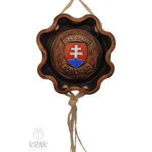 """Keramická plaketa s farebným erbom """"Slovensko"""" 3160 - 1"""