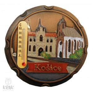 "Keramická magnetka farebná s teplomerom ""Košice"" 3167 - 2"