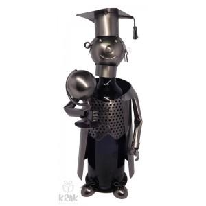 """Kovový stojan na víno """"Doktor"""" (bez fľaše) - 3530 - 1"""