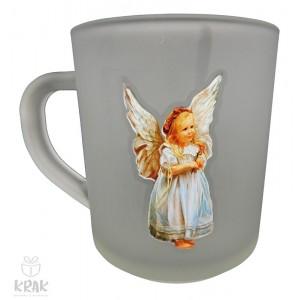 """Hrnček malý """"frost"""" 2 dcl. - obojstranná potlač -  """"Anjel""""- dekor 3 - 2103 - 3"""