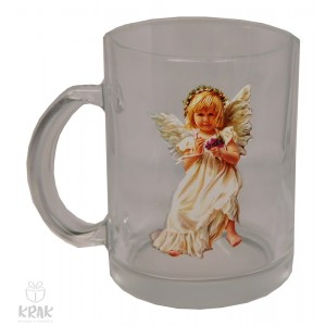"""Hrnček """"priehľadný"""" -  """"anjel"""" dekor 10 - 2760 - 4"""
