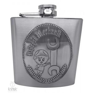 """Kovová fľaška """"ploskačka"""" veľká s kov. dekorom - Najlepší mechanik - 2599 - 10"""