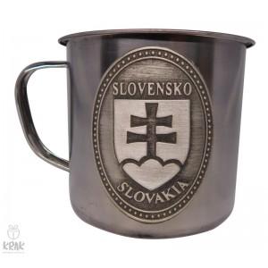 """Hrnček kovový 350 ml. - motív """"Slovenský znak - erb"""" - 1"""