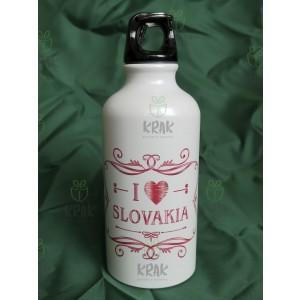 Hliníková fľaša 400 ml dekor I love Slovakia 1623 - 1