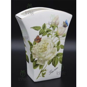 Váza hranatá biela ruža 2163 - 3