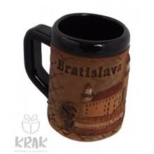 """Keramický mini hrnček - """"Bratislava"""" 1537 - 7"""