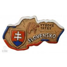 "Keramická magnetka - mapa ""Slovensko"" - 1543 - 1"