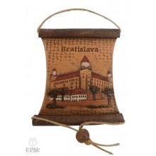 "Keramická plaketa - pergamen -  ""Bratislava"" 15..."