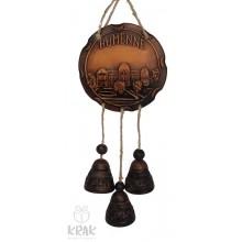 """Keramická plaketa so zvončekmi """"Humenné"""" 1548- 5"""