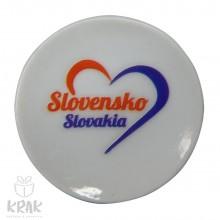 """Magnetka - tanierik - dekor 2 -  """" Slovensko """" ..."""