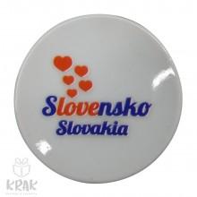 """Magnetka - tanierik - dekor 5 -  """" Slovensko """" ..."""