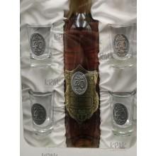 Medovina - jubilejná sada - fľaša 0,5l + 6 pohárov - kovo...