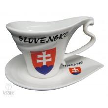 """Porcelánová šálka """"slza"""" - dekor 6  - Slovensko..."""