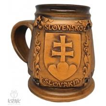 """Keramický krígeľ 500 ml.  """"Slovenský znak - erb""""..."""