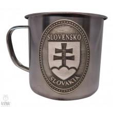 """Hrnček kovový 350 ml. - motív """"Slovenský znak - erb&..."""