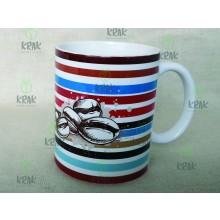 Hrnček prúžky káva, čaj, vlastný text  2359 - 15
