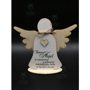 Drevený anjel 0402