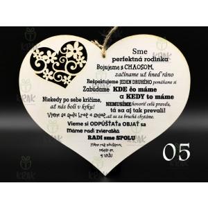Drevené srdce veľké s výrezom 0433