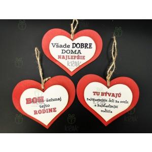 Drevené 3D srdce 0480