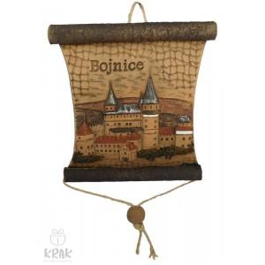 "Keramická plaketa - pergamen ""Bojnice"""" 1544 - 1"