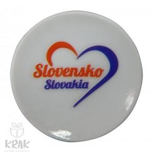 """Magnetka - tanierik - dekor 2 -  """" Slovensko """" - 1633 - 2"""