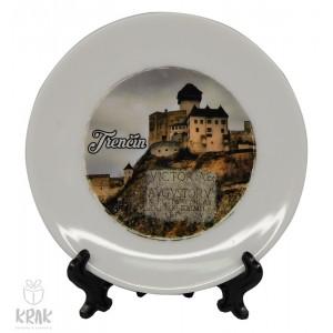 """Tanierik v stojane -  """" Trenčianský hrad """" - dekor 6 - 1635 - 21"""