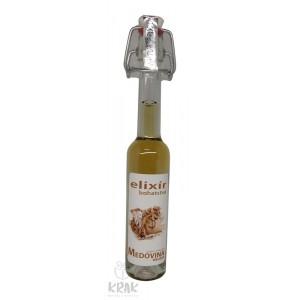 """Medovina PALAZZO - 0,04l - ozdobná fľaša s nápisom """"Elixír bohatstva"""" - 1978-1"""