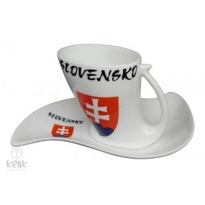 "Porcelánová šálka - dekor 6 - "" Slovensko "" 2128 - 1"