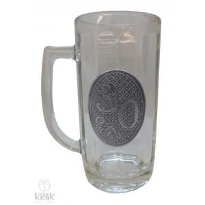 """Pivový krígeľ - 0,3l - kov dekor - """"K jubileu 30"""" 2211 - 2"""