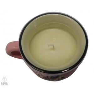 Porcelánový hrnček s aromatickou sviečkou  - motív Bojnice - 1