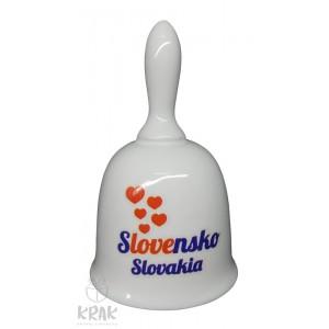 """Zvonček stredný - dekor 5 - """"  Slovensko """" 2414 - 5"""