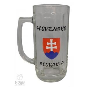 """Pivový krígeľ """"Europa"""" 0,3l - motív """"Slovensko"""" - dekor 6 - 2502r-2"""