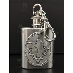 Kovová kľúčenka fľaška poľovník 2596